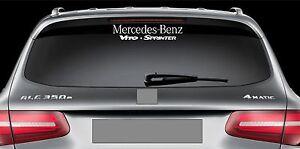 Rear Window Sticker Fits Mercedes Benz Vito Sprinter Vinyl Decal - Car rear window stickers