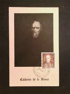 Objectif Spain Mk 1951 Calderon De La Barca Writer Maximum Carte Maximum Card Mc Cm C7828 RafraîChissant Et Enrichissant La Salive
