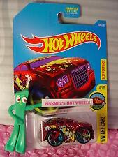 CHRYSLER 300C #194✰Red;R;multicolor 5sp✰HW Art Cars✰2016 Hot Wheels Case Q