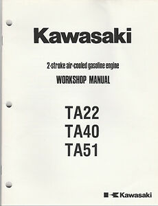 kawasaki shop manual 2 stroke engine model s td40 td48 td51 new ebay rh ebay com User 1C V8 2 International TD 40