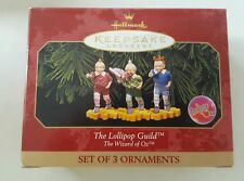 Hallmark Keepsake Ornament 1998 Wizard of Oz Lollipop Guild set of 3