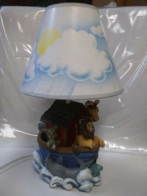 Figi Graphics 1997 Noah\'s Ark Nursery Baby Child Bedroom Lamp