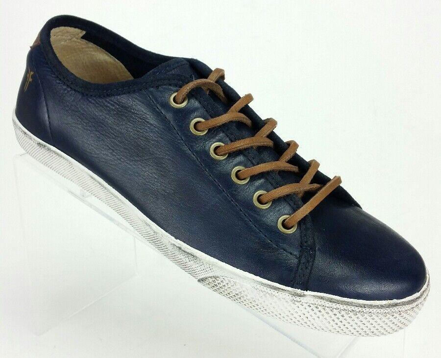Frye Mens 7.5 Chambers Low 81520 Retro Navy Blau Leather Fashion Turnschuhe schuhe