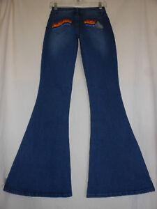 STAR-WARS-7-9-NWT-Denim-Retro-Bell-Bottom-Flare-Stretch-Jeans-70s-Disco-Hippie
