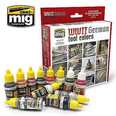 Ammo by Mig - WWII German Tool Colours Acrylic Paint Set MIG-7179
