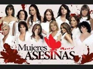 MUJERES ASESINAS,SERIE MEXICANA,3 TEMPORADAS,12 DVD.39