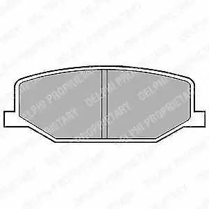 BRAKE PADS Front Axle Delphi LP527