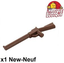 Lego - 1x minifig arme weapon fusil gun rifle marron/reddish brown 30141 NEUF