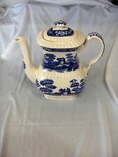 Vintage Copeland Spode Blue Tower China Coffee Pot/Lid Gadroon Older NICE