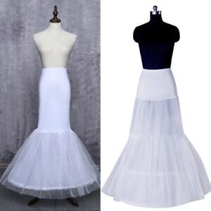 46a9d9844045 Image is loading White-Mermaid-Petticoats-For-Wedding-Dresses-Crinoline- Women-