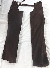 Whitman Lang Chaps, westernchaps, gamuza, talla s, marrón, sin flecos