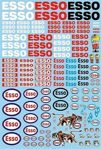 Esso Sponsoren Decal PP07 195 x 90 mm 1:43 Decal Abziehbilder