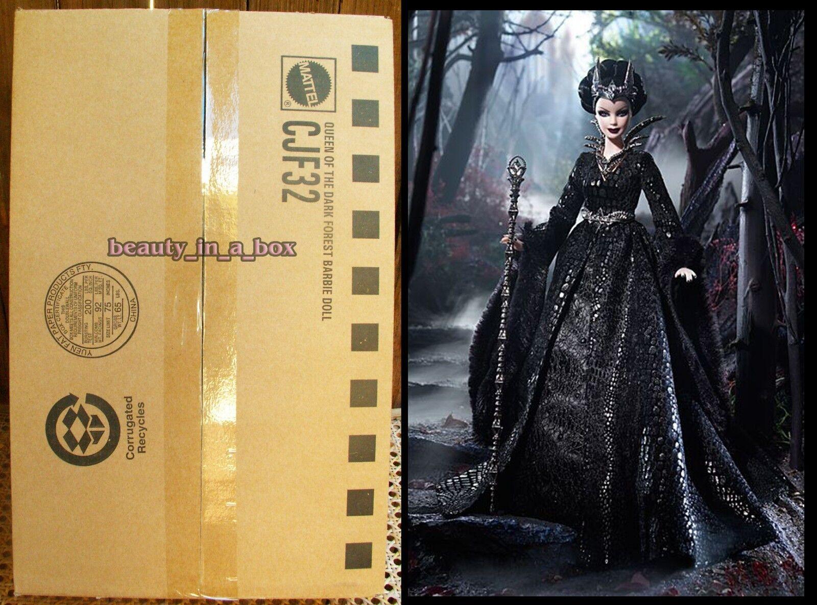 Reina del bosque oscuro Muñeca Barbie embrujada belleza embarcador oro Label