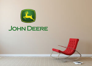 Amazing Image Is Loading John Deere Wall Decal Logo Vinyl Art Construction
