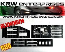 82 PONTIAC FIREBIRD KNIGHT RIDER KITT 2TV DASH ELECTRONICS ALUMINIUM OVERLAY RHD