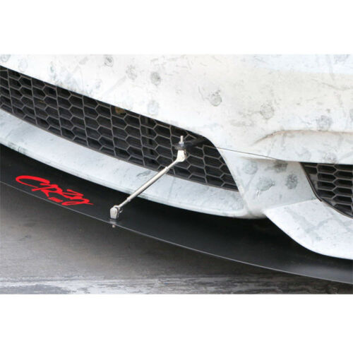"Silver Adjustable 150mm 5.9/"" Front Bumper Lip Splitter Rod Strut Tie Bar Support"