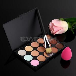 15-Colors-Makeup-Contour-Face-Cream-Concealer-Palette-Powder-Brush-Sponge-Puff