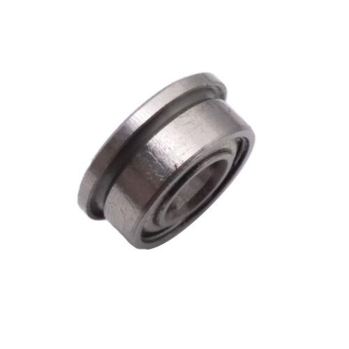 US Stock 10pcs F684zz Mini Metal Double Shielded Flanged Ball Bearings 4x9x4mm