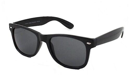 Schwarz Vintage Designer Klassisch Retro Sonnenbrille Damen Herren 80er