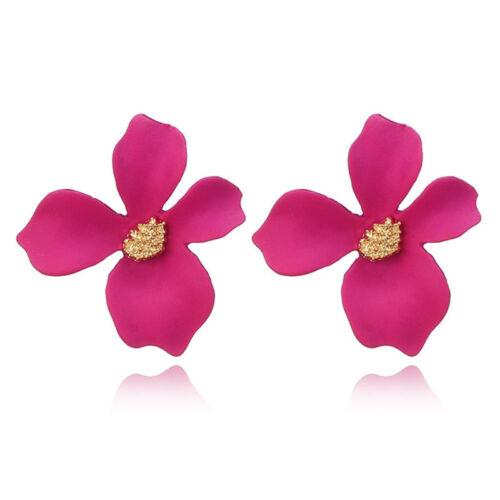 Bohemia grandes flores pendientes mujeres encanto oreja Stud joyería GN