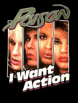 POISON cd lgo I WANT ACTION Official SHIRT XL New look what the cat dragged in