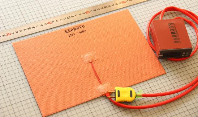 600W 220V 200X300mm Silicone Heater Pad 3D Printer HeatBed w/ Digital Thermostat