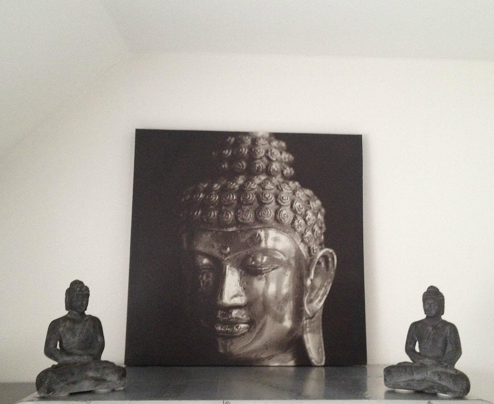 2x la Pierre Bouddha 1x la 2x fresque dans le SET statue sculpture décoration feng shui RAR 499f46