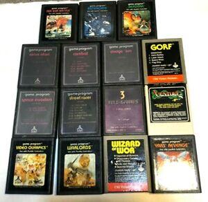 Lot of 15 Atari 2600 Game Cartridges Asteroids Warlords Yar's Revenge Berzerk