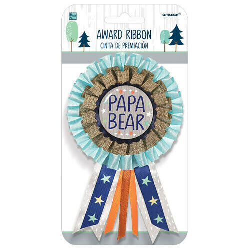 BABY SHOWER Bear-ly Wait DELUXE GUEST OF HONOR RIBBON ~ Party Supplies Favor Dad