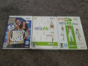 Wii Fit And Wii Fit Plus and Biggest Loser - Wii Games lot - A6