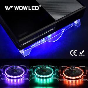 Aggiornamento-USB-RGB-LED-Design-Cooler-Ventola-di-Raffreddamento-Stand-Pad-Per-PS4-PRO-XBOX-ONE-X
