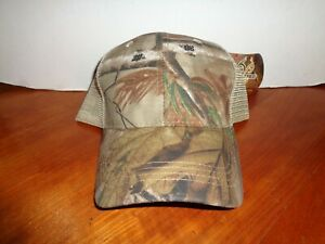 Real-Tree-AP-Camo-Beige-Mesh-Back-Baseball-Cap-Hat-Adjustable-Snap-Strap-w-Tags