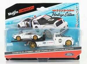 MAISTO 1/64 FORD USA | RAMP TRUCK WRECKER WITH FORD GT N 98 HERITAGE EDITION ...