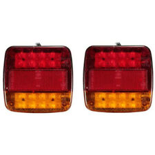 2 x 12v LED Rear Lights Stop Indicator Boat Car Trailer Truck Waterproof Si F2Q7