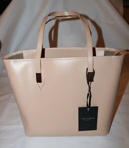 7993d54b8562aa Image is loading Ted-Baker-Chelsey-Leather-Large-Shopper-Bag-Nute-