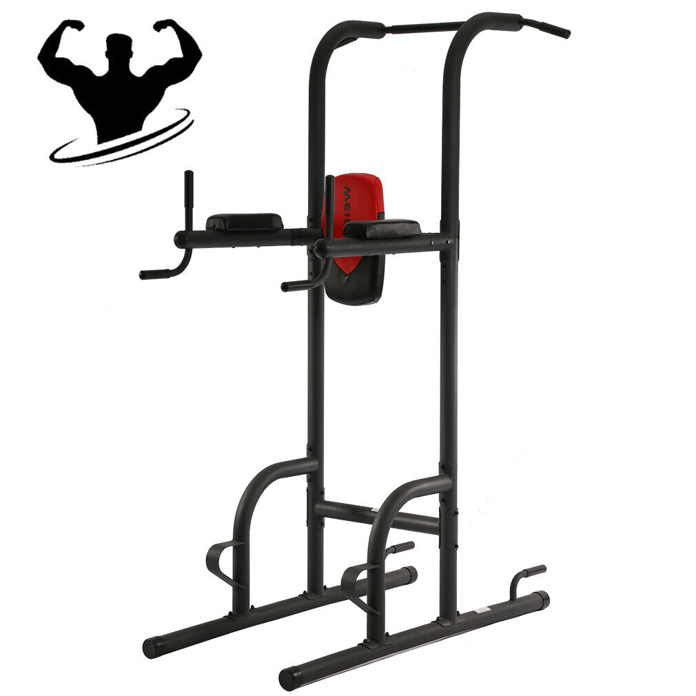 NEW Power Tower Exercise  Fitness Adjustable Multi Function Bodybuilding Home Gym  order now