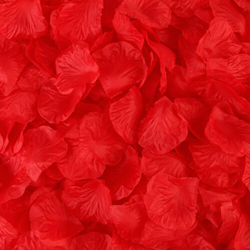 100-1000pcs Silk Rose Flower Petals for Wedding Party Table Confetti Decor US