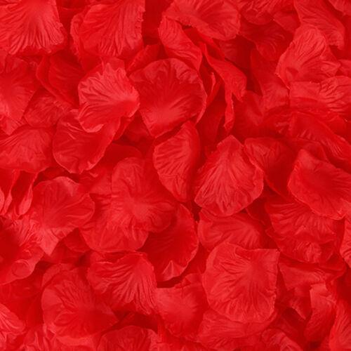 100-1000pcs Silk Rose Flower Petals for Wedding Party Table Confetti Decor US
