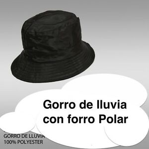 La imagen se está cargando GORRO-DE-LLUVIA-IMPERMEABLE-HOMBRE-MUJER -UNISEX-CON- 0801e60dcc3