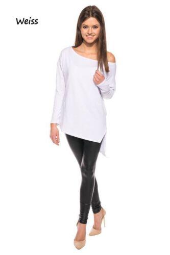 Asymmetrisch Longshirt Tunika Oversize Locker hb1 36 38 40 42 44 46 48