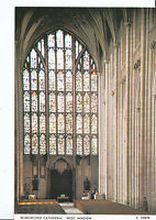Hampshire Postcard - Winchester Cathedral - West Window    AB2184