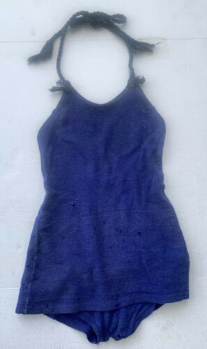 RARE ANTIQUE VTG 20s 30s NRA WOMENS BLUE WOOL ONE