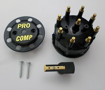 LOT OF 5 Black Ready to Run Pro Billet Replacement Distributor Cap and Rotor