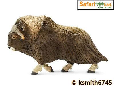 Safari MUSK OX solid plastic toy figure wild zoo Arctic animal oxen* NEW *