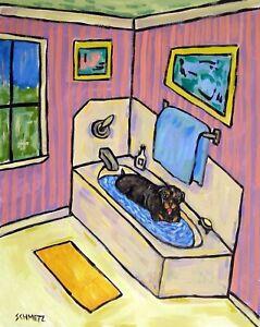 Jack Russell terrier jam band  dog art print 8x10 animals impressionism
