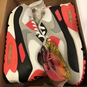 Brand New Nike Air Max 90 Infrared 2008 Ds White Cement