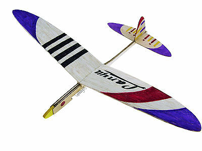 Lanyu Hand Launch Balsa Wood Glider Plane DIY Build&Paint Model Kit, US 7006