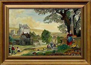 Akademische-Malerei-Deutscher-Maler-Thomas-ca-1900-1980-xx-Naive-Kunst-xxx