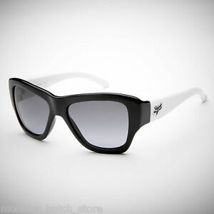 5f94a763777 NEW IN BOX Fox Racing Sunglasses GU GU Black White Black Grey Lens ...