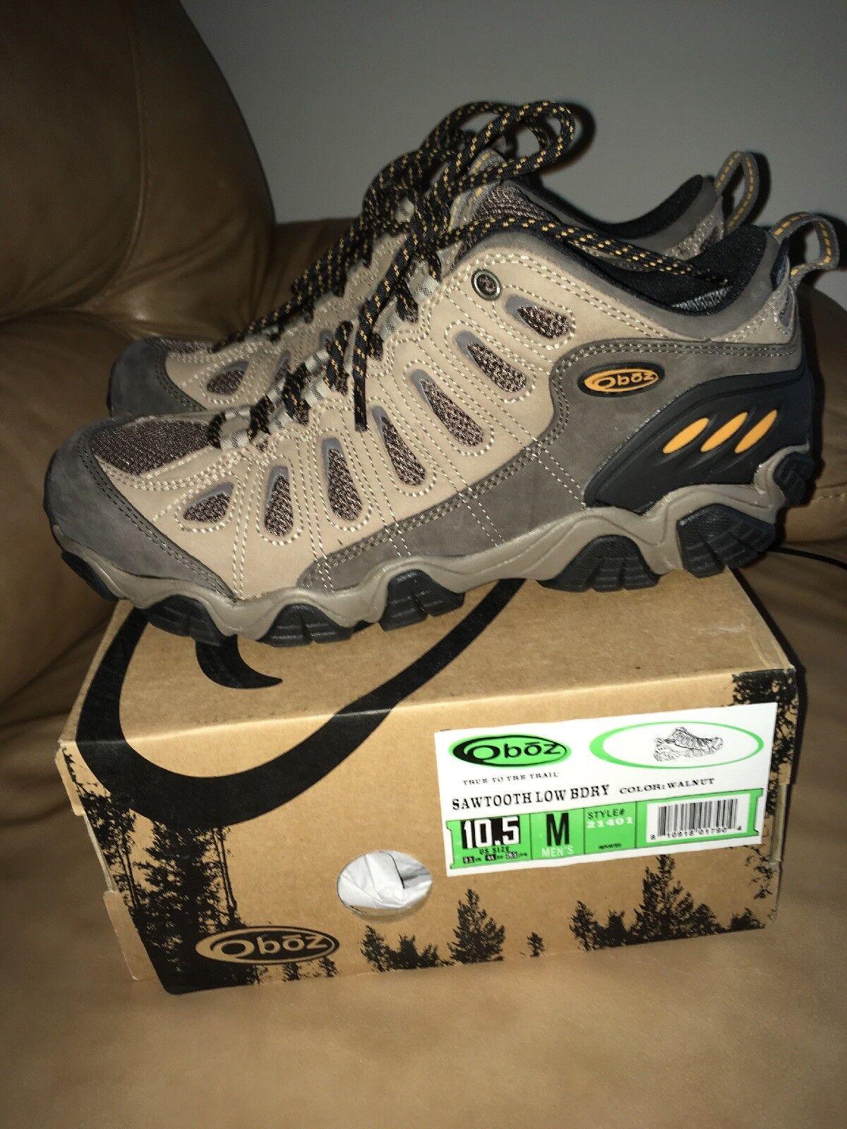 New Oboz Men's Sawtooth Low Bdry Multisport Hiking shoes,Walnut,10.5 M US  140